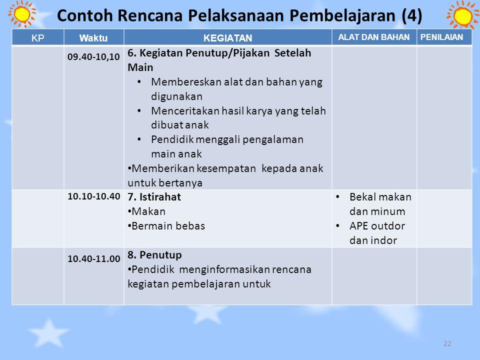 Contoh Rencana Pelaksanaan Pembelajaran (4)