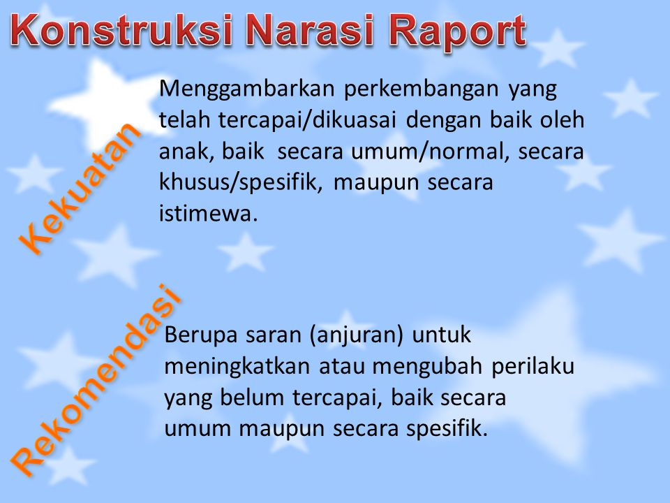 Konstruksi Narasi Raport