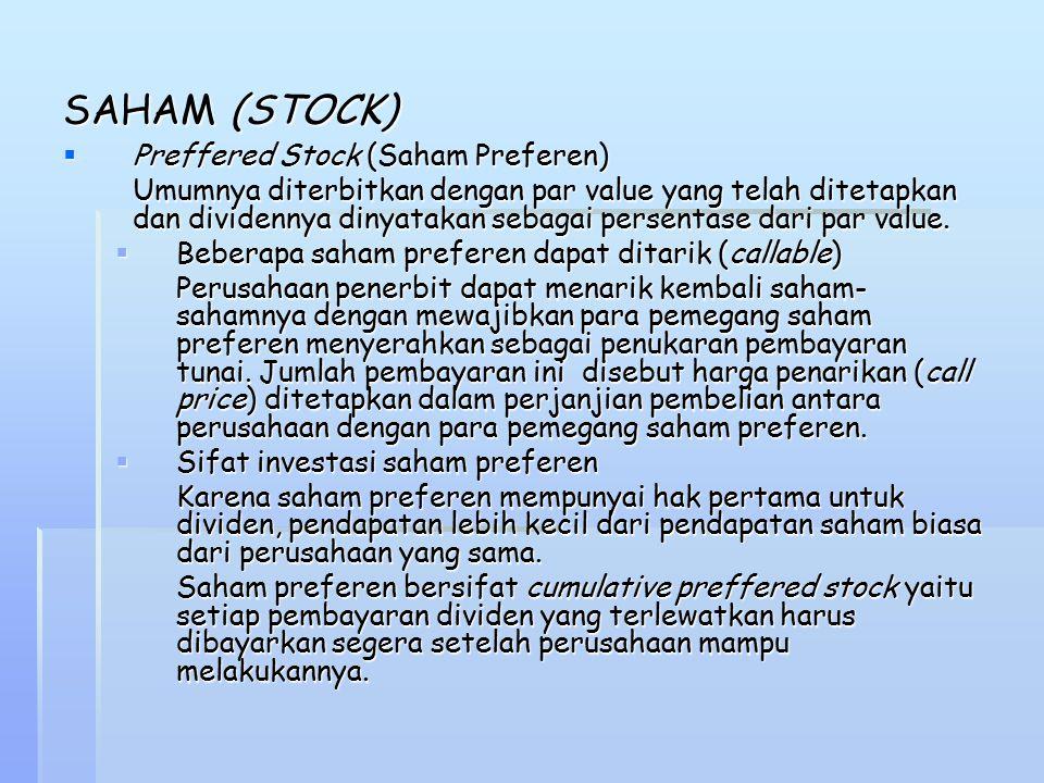 SAHAM (STOCK) Preffered Stock (Saham Preferen)