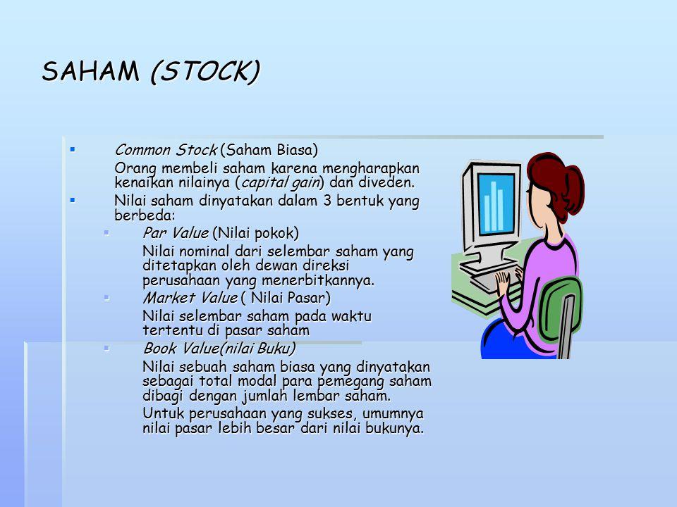 SAHAM (STOCK) Common Stock (Saham Biasa)