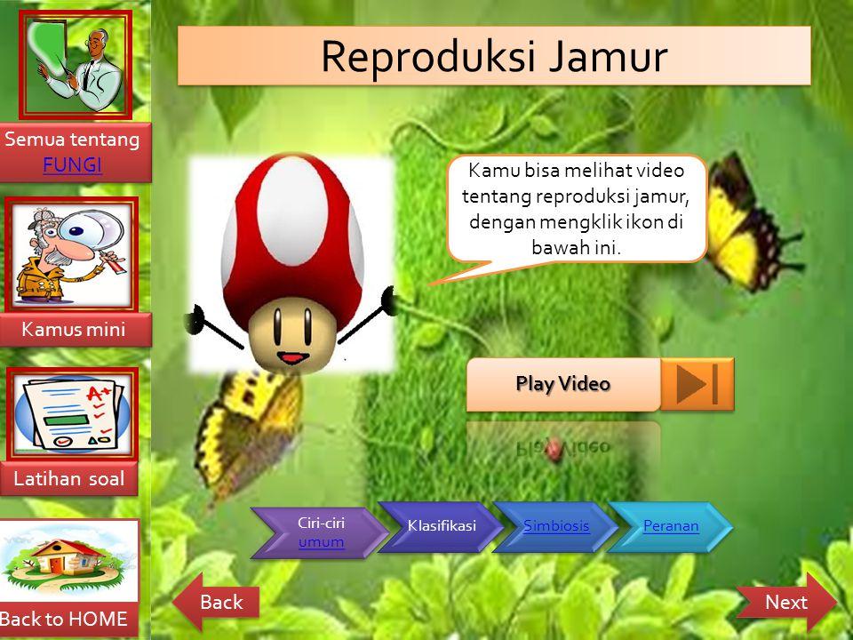 Reproduksi Jamur Kamu bisa melihat video tentang reproduksi jamur, dengan mengklik ikon di bawah ini.
