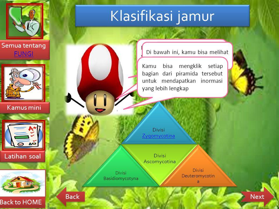 Klasifikasi jamur Nah, teman-teman..
