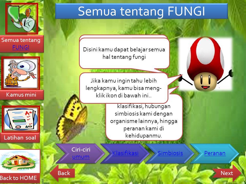 Semua tentang FUNGI Fungi adalah nama lain dari organisme Jamur
