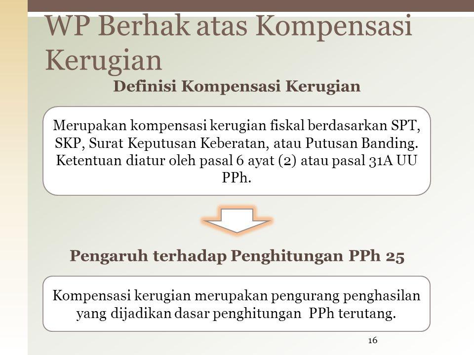 WP Berhak atas Kompensasi Kerugian