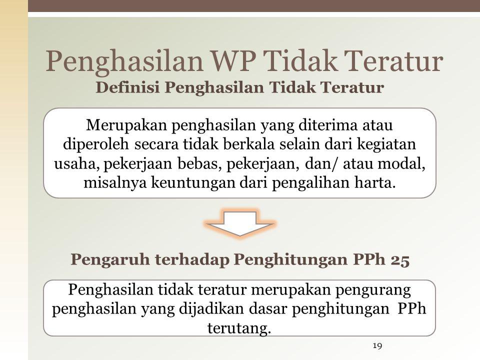 Penghasilan WP Tidak Teratur