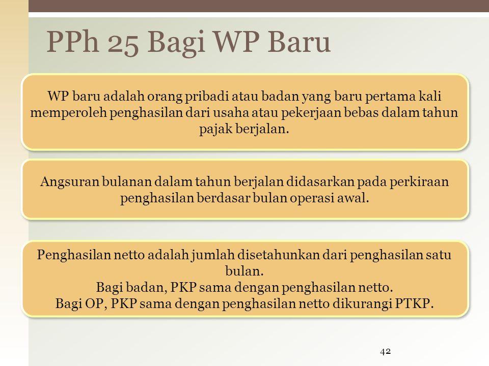 PPh 25 Bagi WP Baru