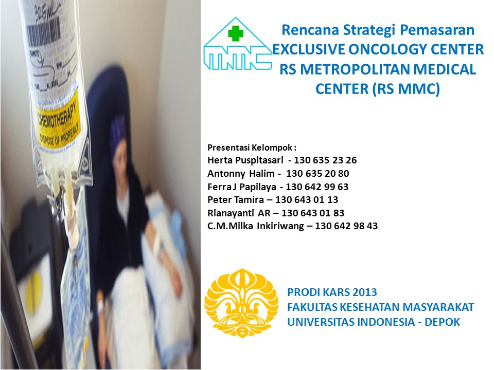 Rencana Strategi Pemasaran EXCLUSIVE ONCOLOGY CENTER