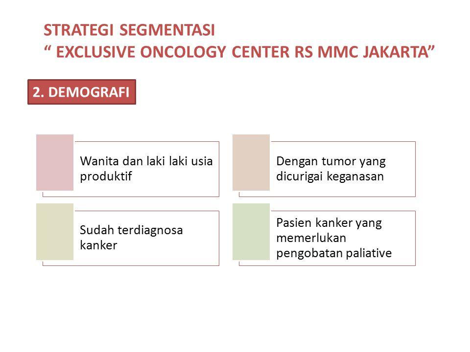 EXCLUSIVE ONCOLOGY CENTER RS MMC JAKARTA
