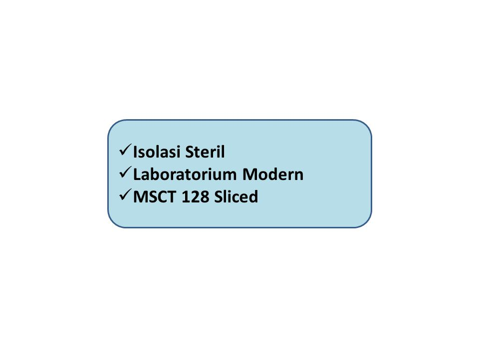 Isolasi Steril Laboratorium Modern MSCT 128 Sliced