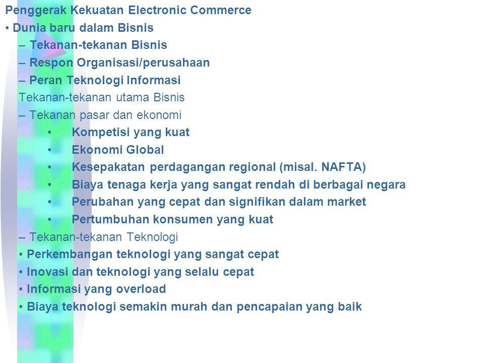 Penggerak Kekuatan Electronic Commerce