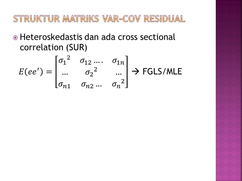 STRUKTUR MATRIKS VAR-COV RESIDUAL