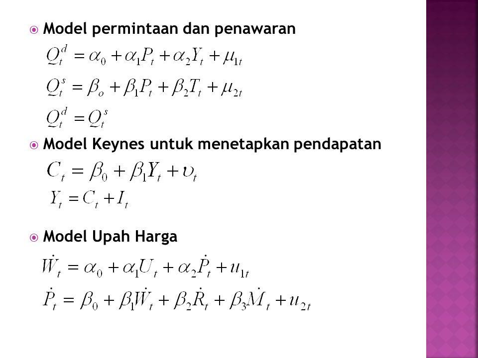 Model permintaan dan penawaran