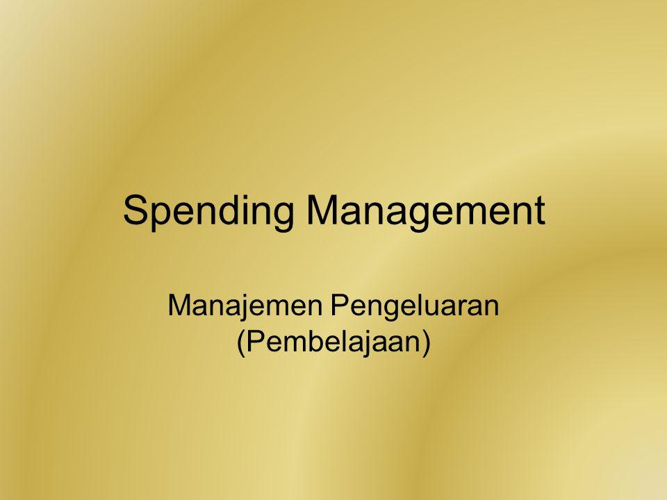 Manajemen Pengeluaran (Pembelajaan)