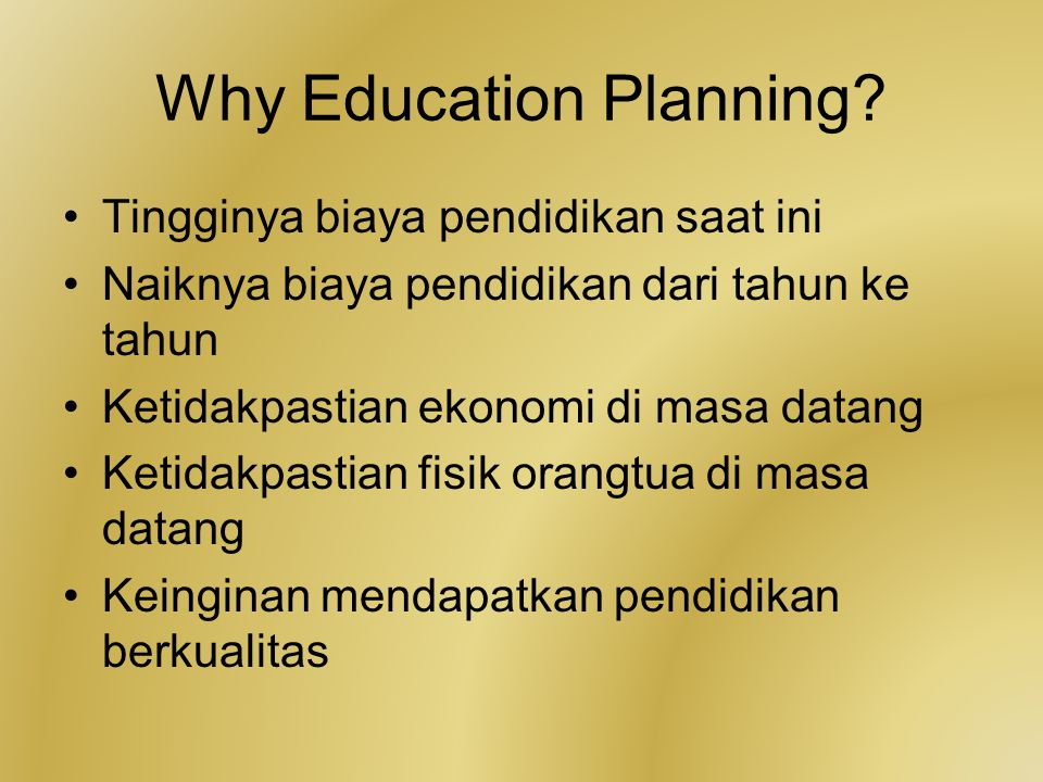 Why Education Planning