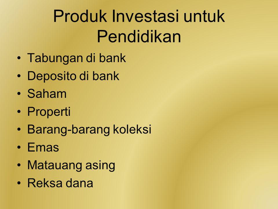 Produk Investasi untuk Pendidikan