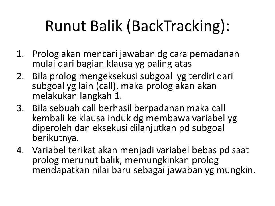 Runut Balik (BackTracking):