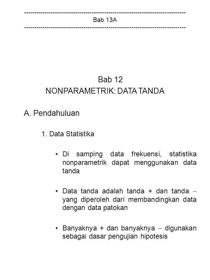 NONPARAMETRIK: DATA TANDA