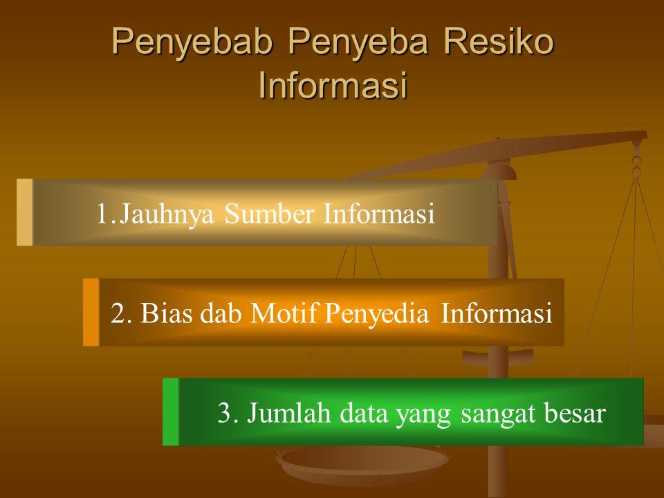 Penyebab Penyeba Resiko Informasi