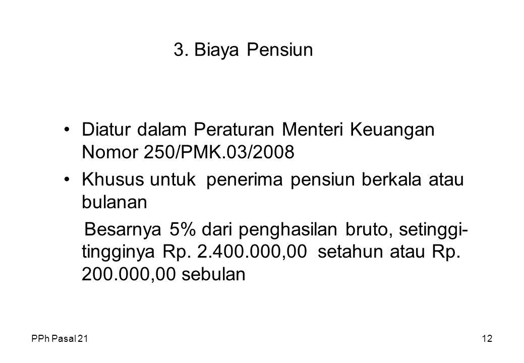 Diatur dalam Peraturan Menteri Keuangan Nomor 250/PMK.03/2008