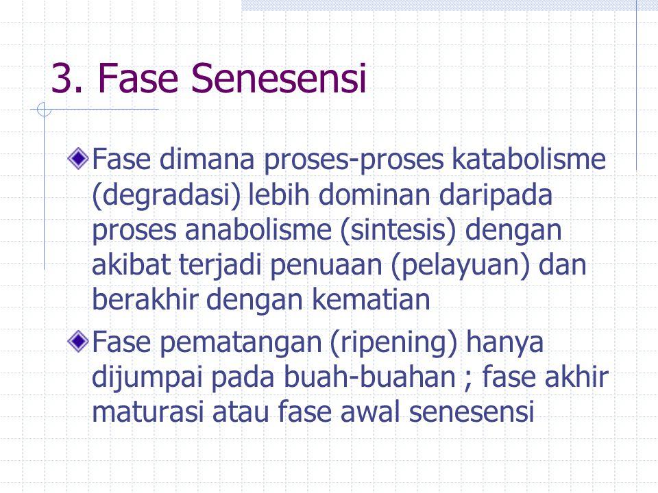 3. Fase Senesensi