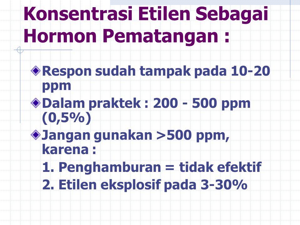 Konsentrasi Etilen Sebagai Hormon Pematangan :
