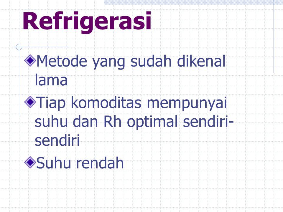 Refrigerasi Metode yang sudah dikenal lama