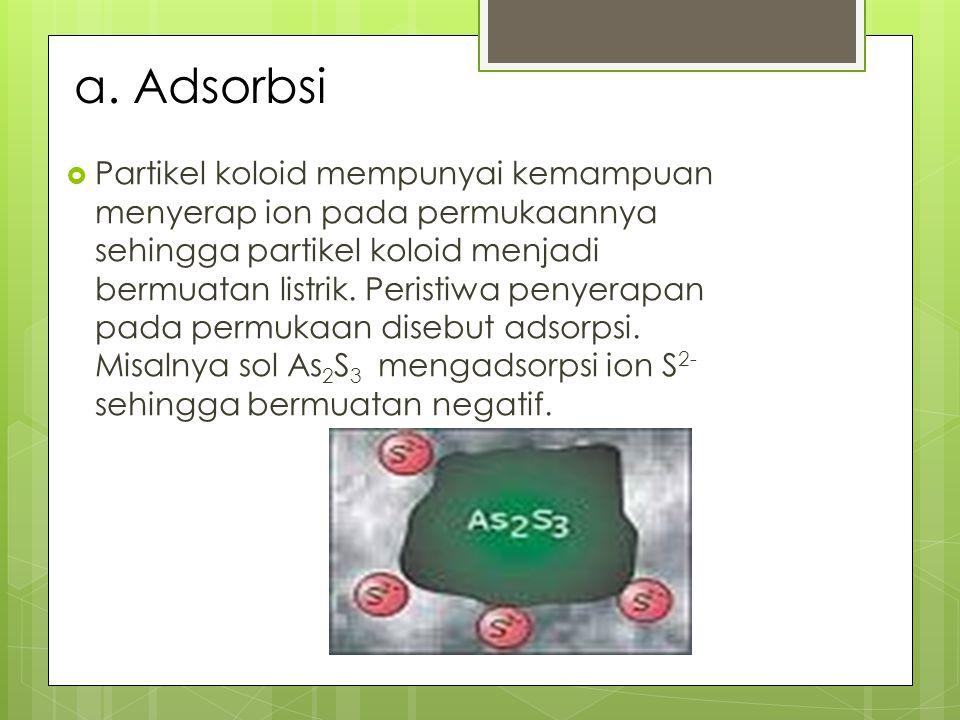 a. Adsorbsi