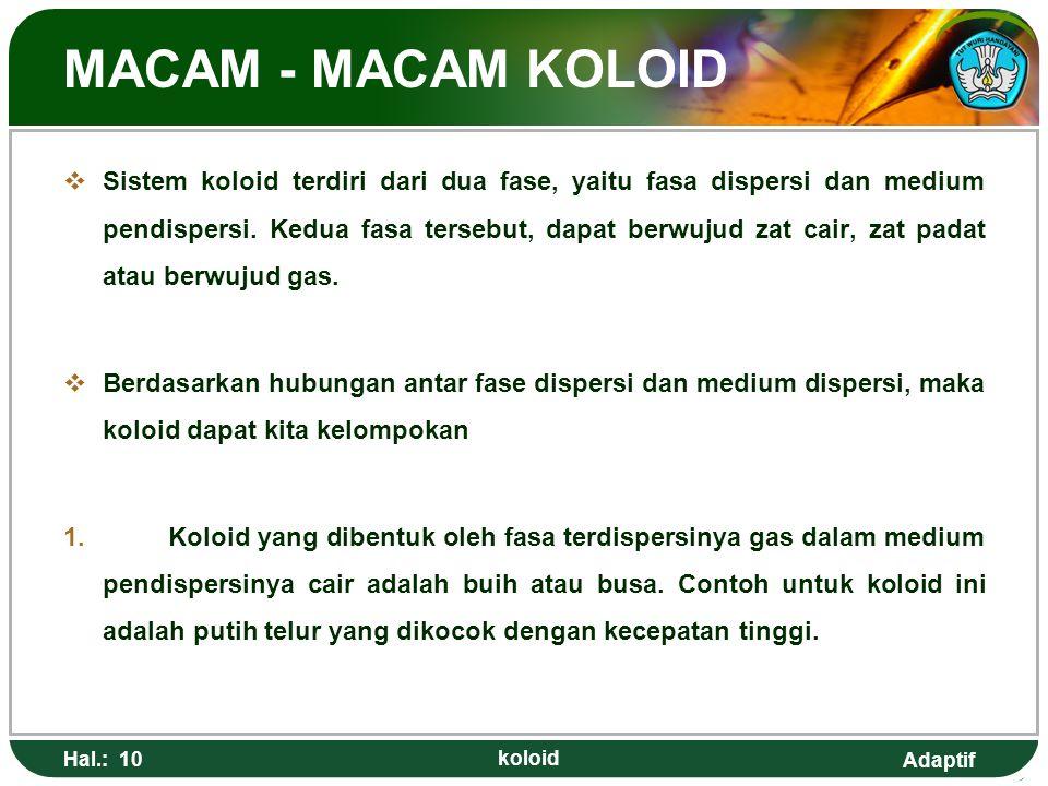 MACAM - MACAM KOLOID
