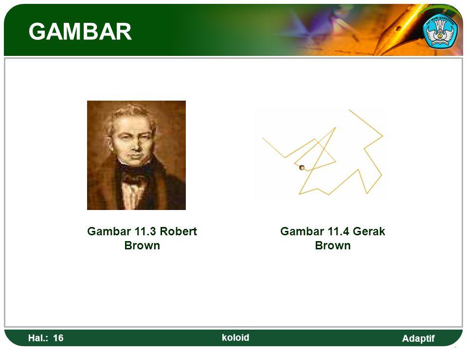GAMBAR Gambar 11.3 Robert Brown Gambar 11.4 Gerak Brown Hal.: 16