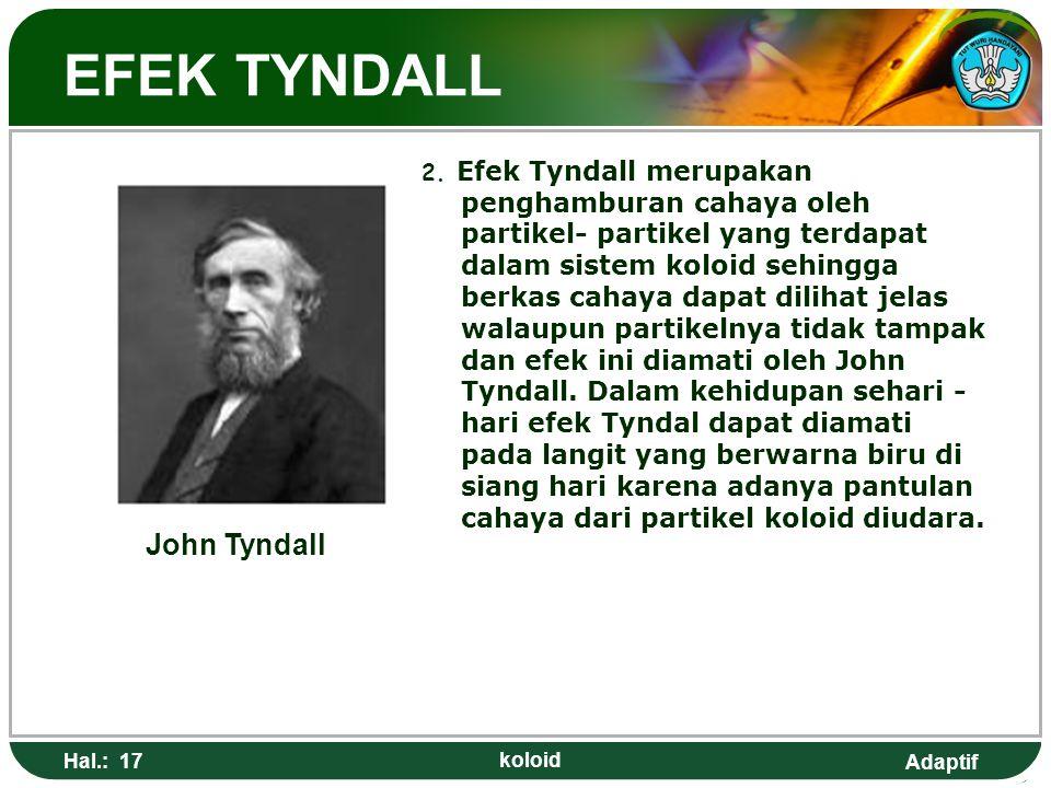 EFEK TYNDALL John Tyndall