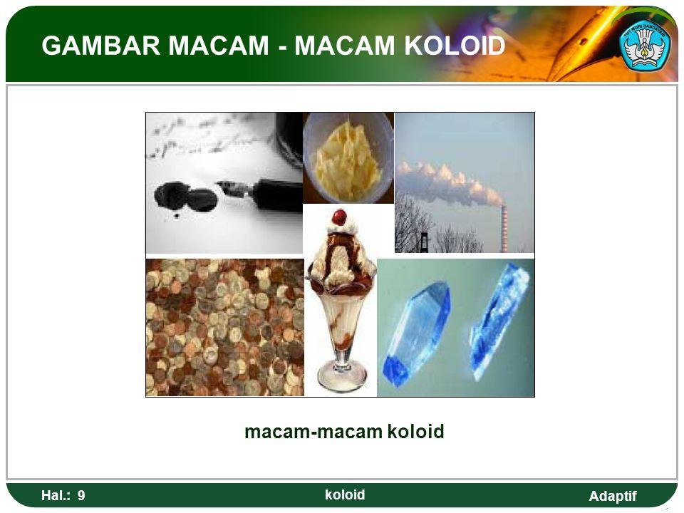 GAMBAR MACAM - MACAM KOLOID
