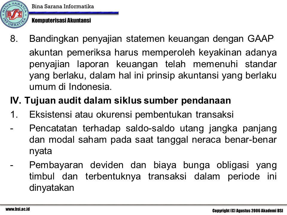 Bandingkan penyajian statemen keuangan dengan GAAP