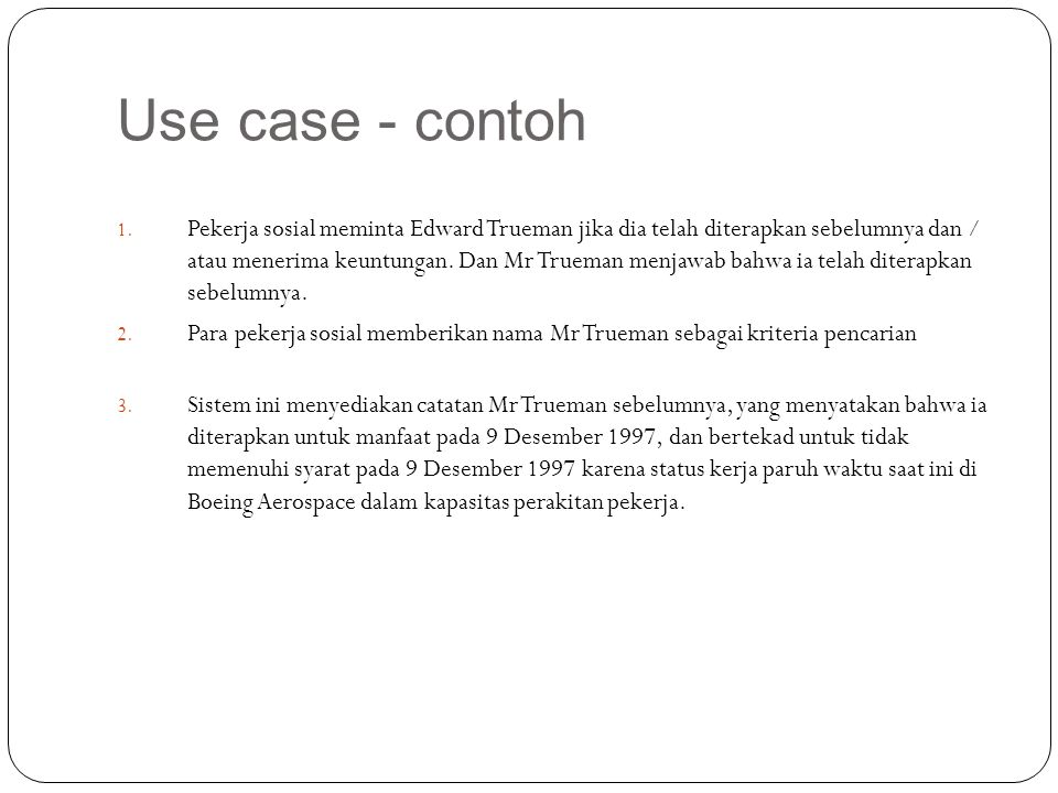 Use case - contoh