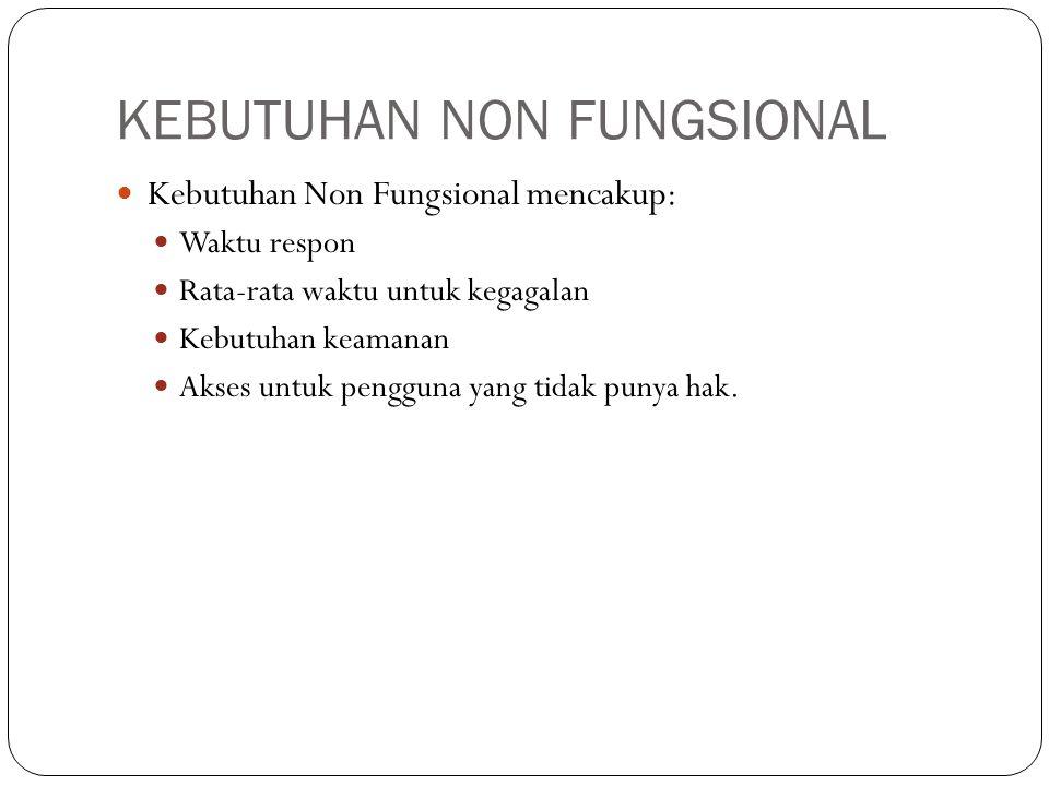 KEBUTUHAN NON FUNGSIONAL