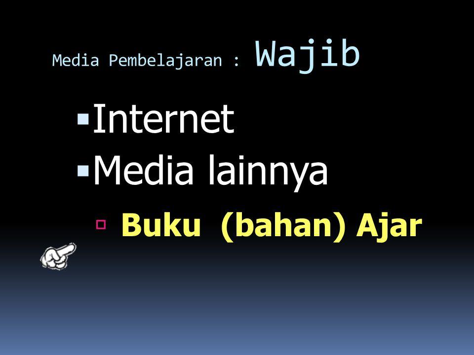 Media Pembelajaran : Wajib