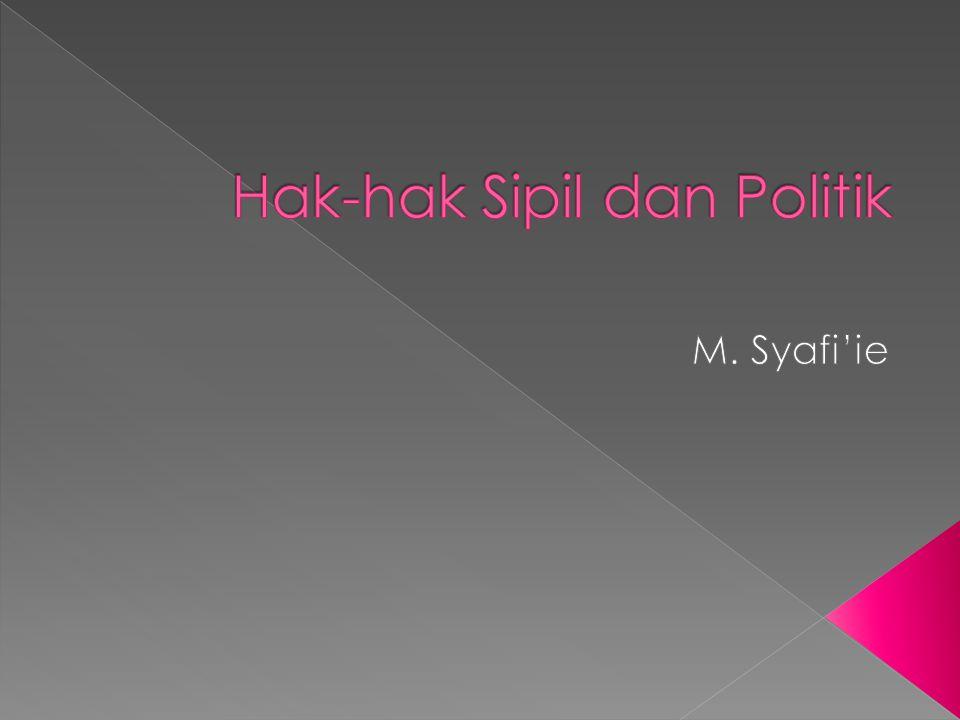 Hak-hak Sipil dan Politik