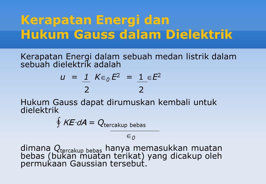 Kerapatan Energi dan Hukum Gauss dalam Dielektrik