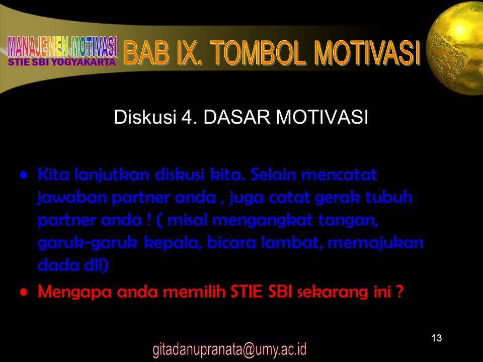 Diskusi 4. DASAR MOTIVASI