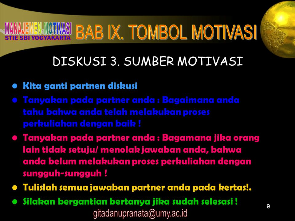 DISKUSI 3. SUMBER MOTIVASI