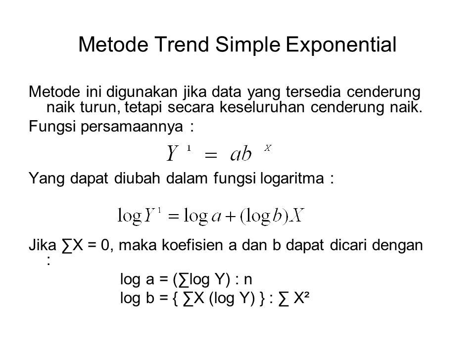 Metode Trend Simple Exponential