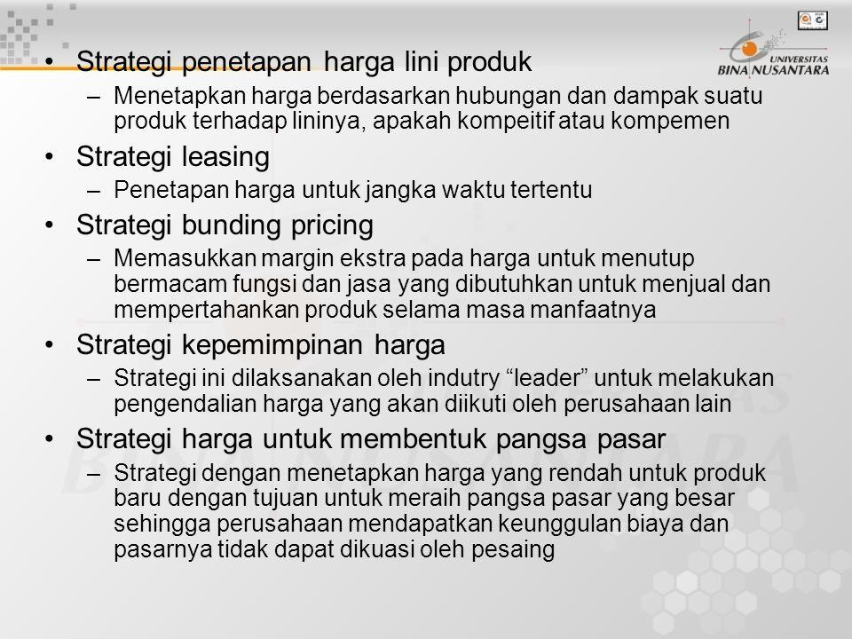 Strategi penetapan harga lini produk