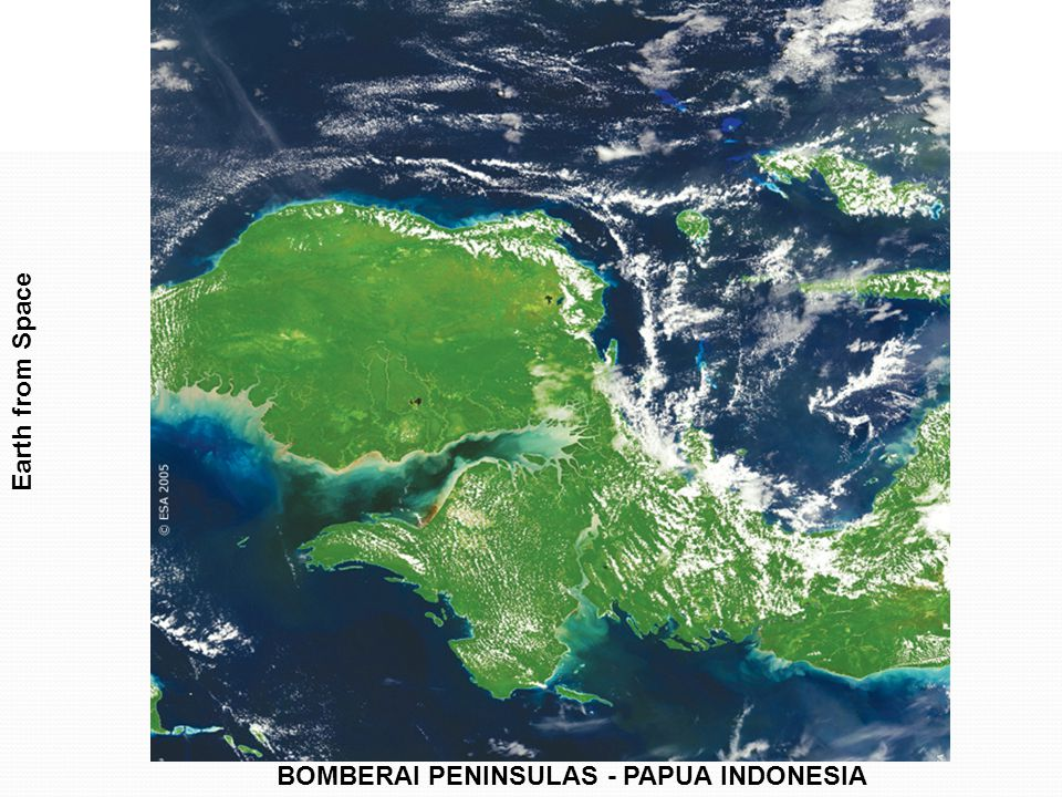 Earth from Space BOMBERAI PENINSULAS - PAPUA INDONESIA