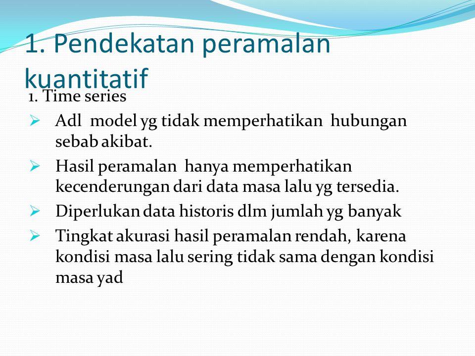 1. Pendekatan peramalan kuantitatif