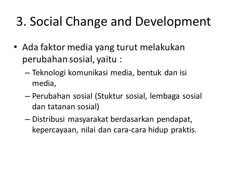 3. Social Change and Development