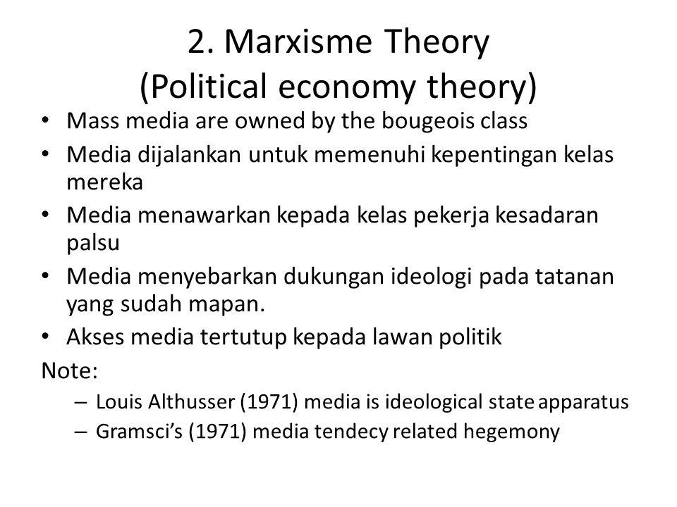 2. Marxisme Theory (Political economy theory)