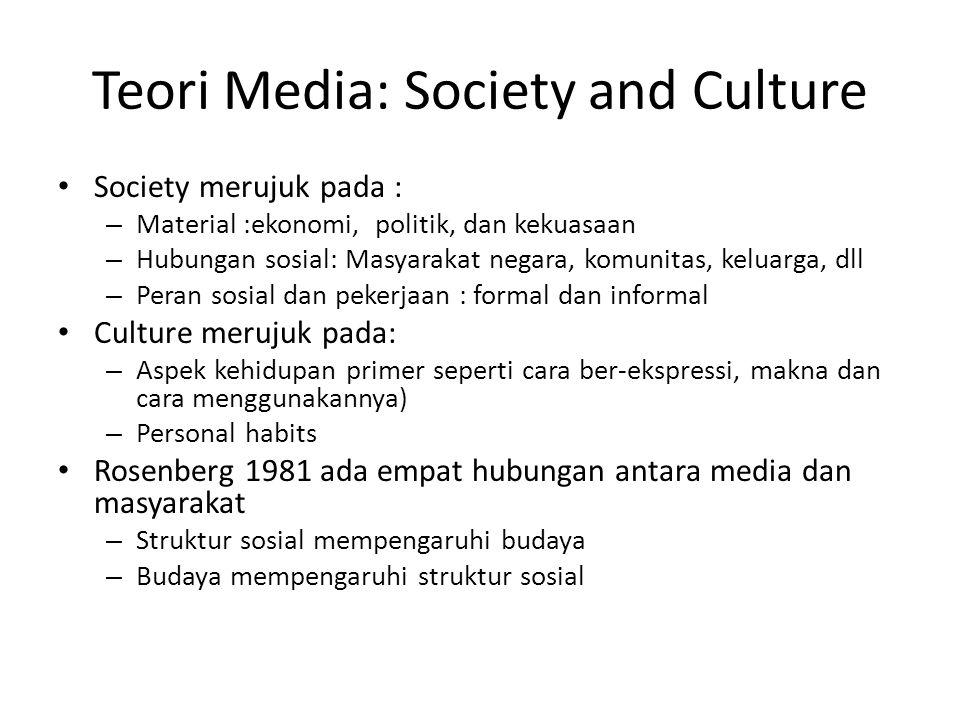 Teori Media: Society and Culture