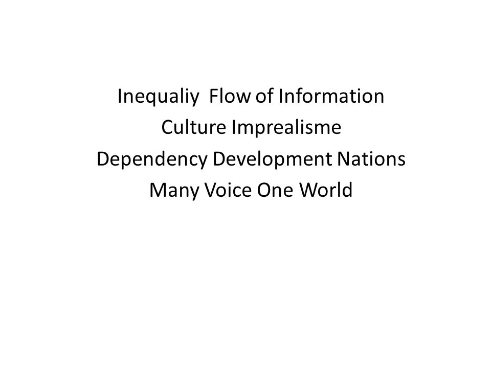 Inequaliy Flow of Information Culture Imprealisme