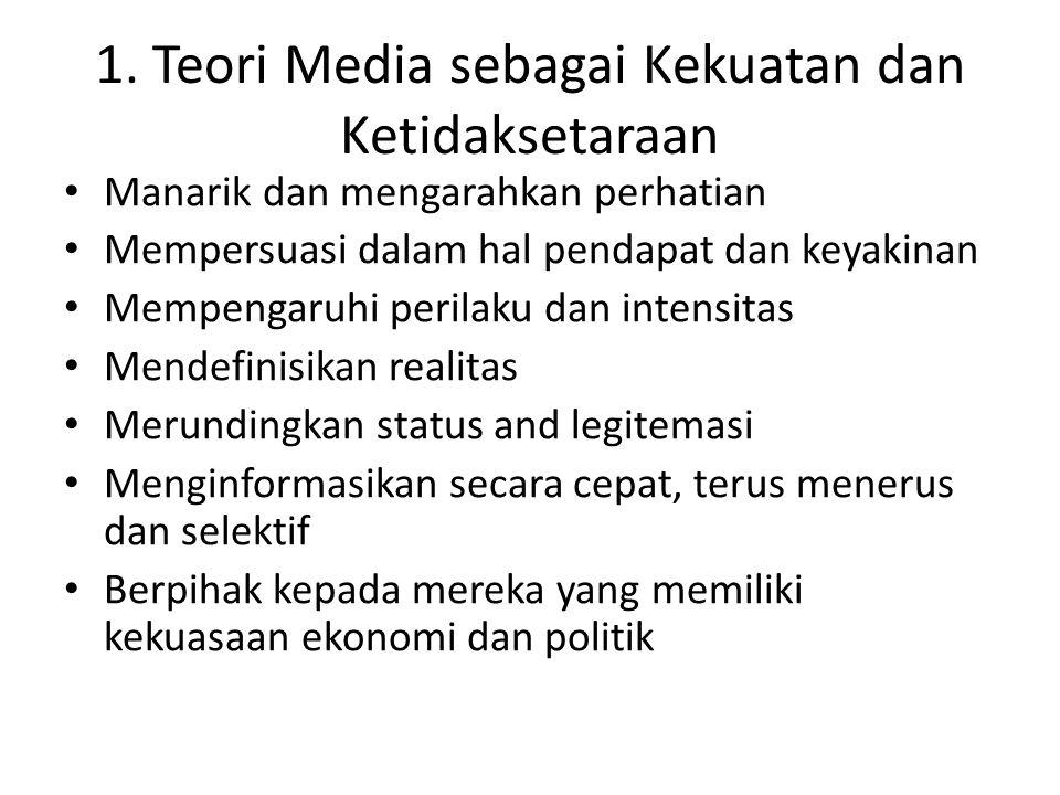 1. Teori Media sebagai Kekuatan dan Ketidaksetaraan