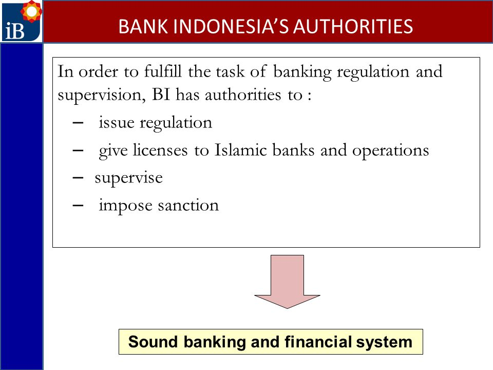 BANK INDONESIA'S AUTHORITIES