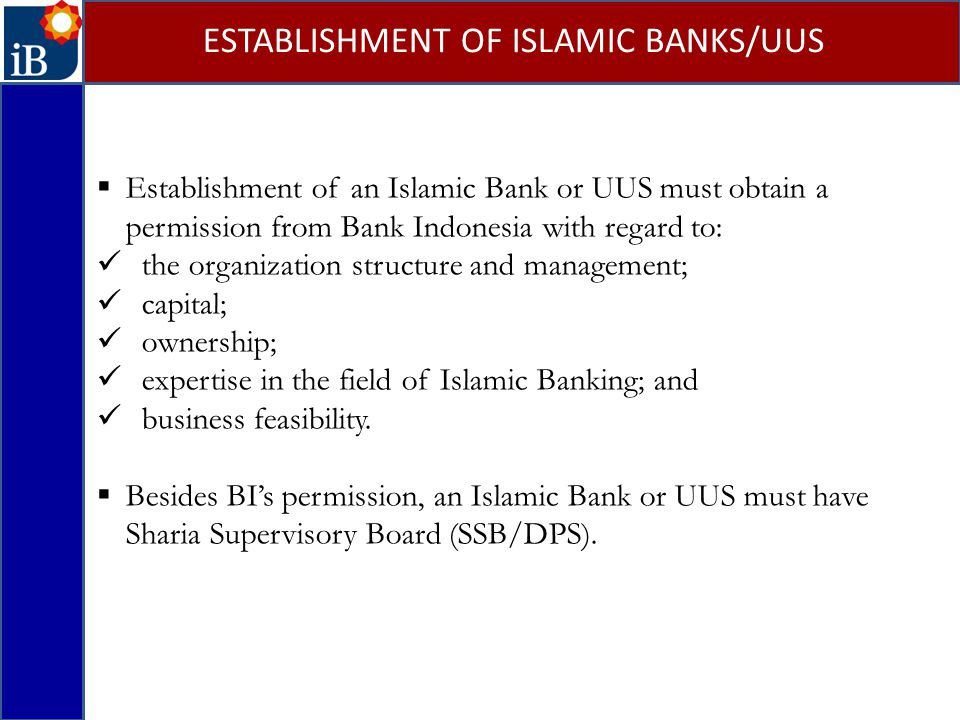 ESTABLISHMENT OF ISLAMIC BANKS/UUS